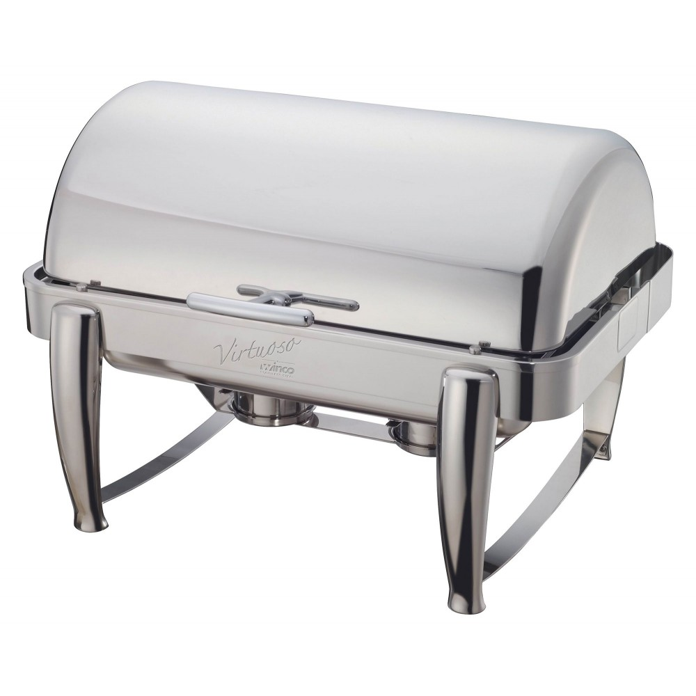 Virtuoso Full Size Stainless Steel Roll-Top Chafer 8 Qt