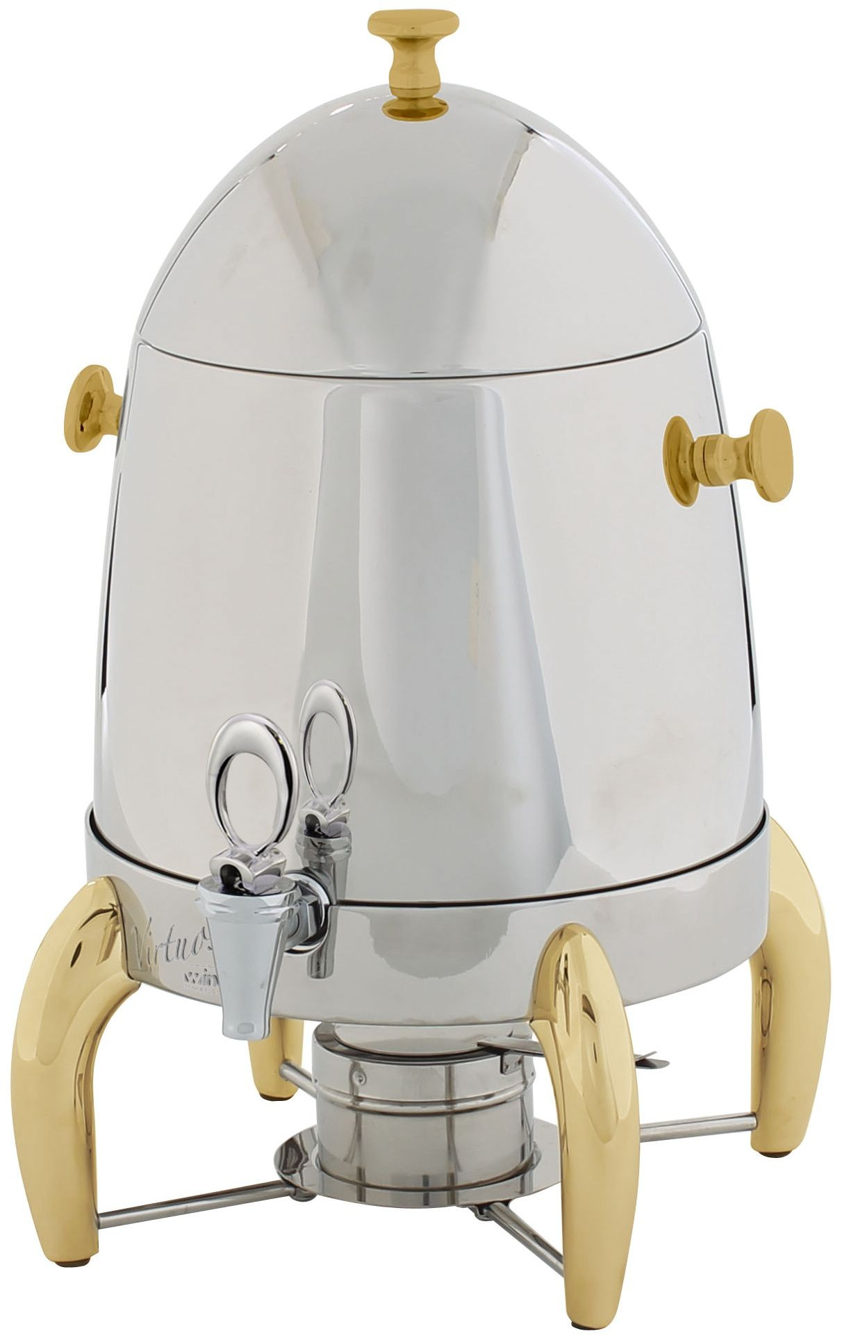 Winco 903a Virtuoso Coffee Urn with Gold Legs, 3 Gallon