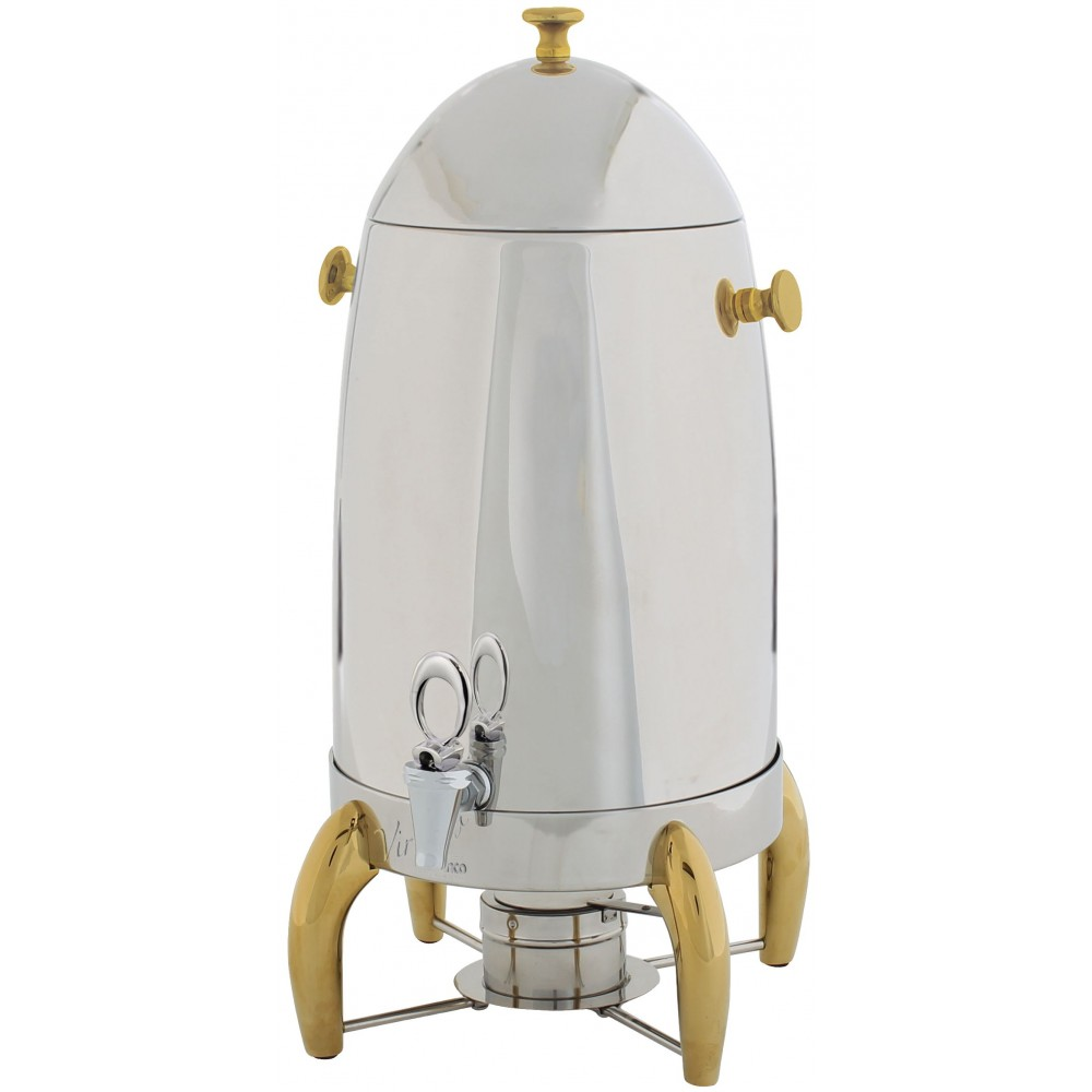 Winco 905A Virtuoso Coffee Urn with Gold Legs, 5 Gallon