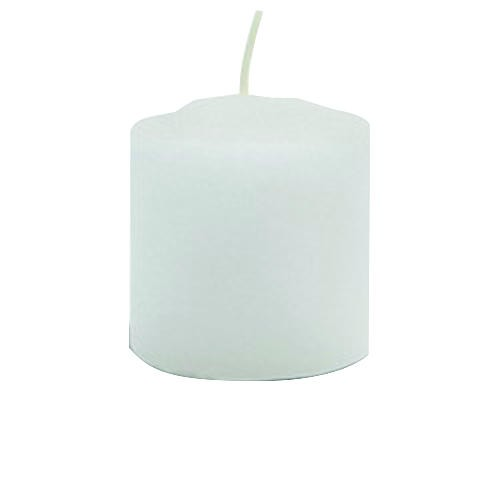 Votive Candle, White, 15 Hour Burn, 1-13/16 in, 72 per Pack