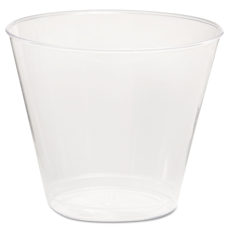 WNA  5 oz Clear Squat Plastic Tumbler, 1000/Pack