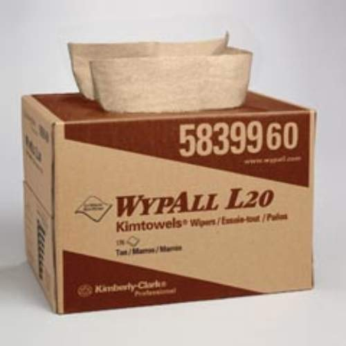 WYPALL* L20 Wipers, 12.5 X 16.8, Brown, 10 x 13 x 9.250