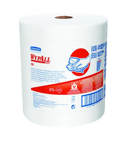 WYPALL* X80 Shop Wipers, White, 11.800 x 11.800 x 12.500