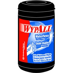 WYPALL Heavy-Duty Hand Cleaning Wipes, 10 x 12, Green, 50/Canister