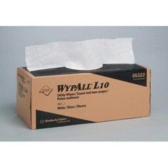 WYPALL L10 Utility Wipes, Box, 12 x 10 1/2, White, 125/Box