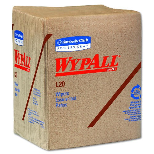 WYPALL L20 Wipers, Brown, 12.5 X 14.4, 3-Ply, Brown