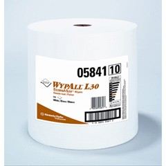 WYPALL L30 Wipers, Jumbo Roll, 12 2/5 x 13 3/10, White, 950/Roll