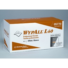 WYPALL L40 Professional Towels, 12 x 23, White, 45/Box