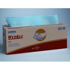 WYPALL L40 Wipers, POP UP Box, 16 2/5 X 9 4/5, Blue, 100/Box