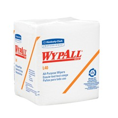 WYPALL L40 Wipers, Quarterfold, 12 1/2 x 13, White, 56/Pack