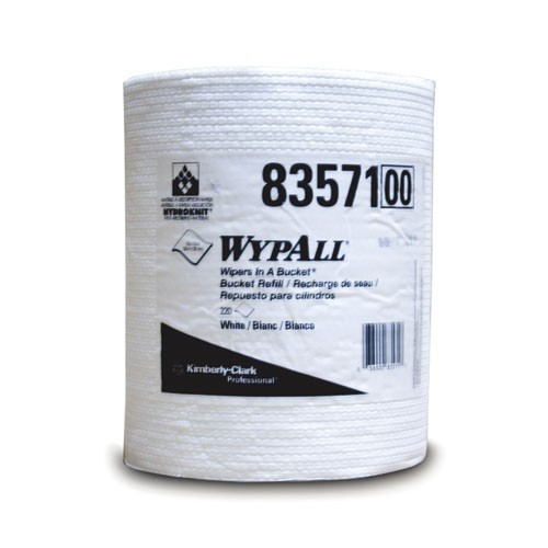 WYPALL Wipers in a Bucket Refill, 10 X 13, 220 Sheets
