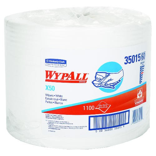 WYPALL X50 Wipers, Jumbo Roll, White