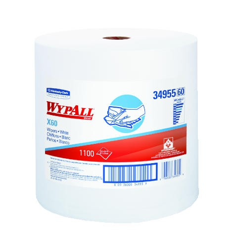 WYPALL X60 Wipers, 12.5 X 13.4, White