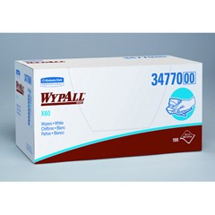 WYPALL X60 Wipers, Quarterfold, 11 x 23, White, 100/Box