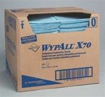 WYPALL X70 Foodservice Towels, Quarterfold, 12 1/2 x 23 1/2, Blue, 300/Box