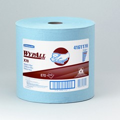 WYPALL X70 Wipers, Jumbo Roll, 12 1/2 x 13 2/5, Blue, 870/Roll