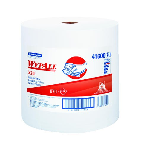 WYPALL X70 Wipers Rag, 12.5 X 13.4, White