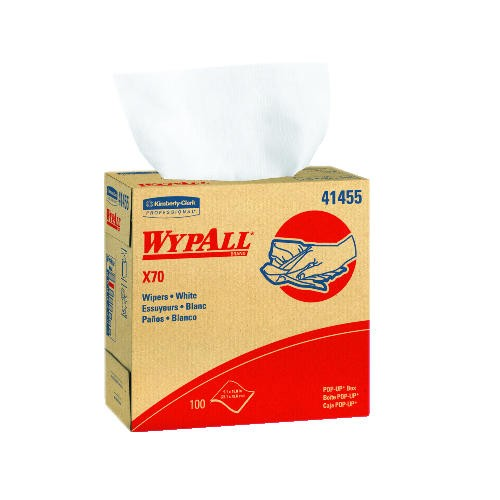 WYPALL X70 Wipers Rag, 9.1 X 16.8, 1-Ply, Blue, 23.750 x 19.375 x 9.625