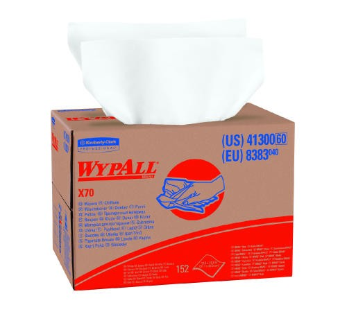 WYPALL X70 Wipers Rag, White, 12.5 X 16.8, 1-Ply