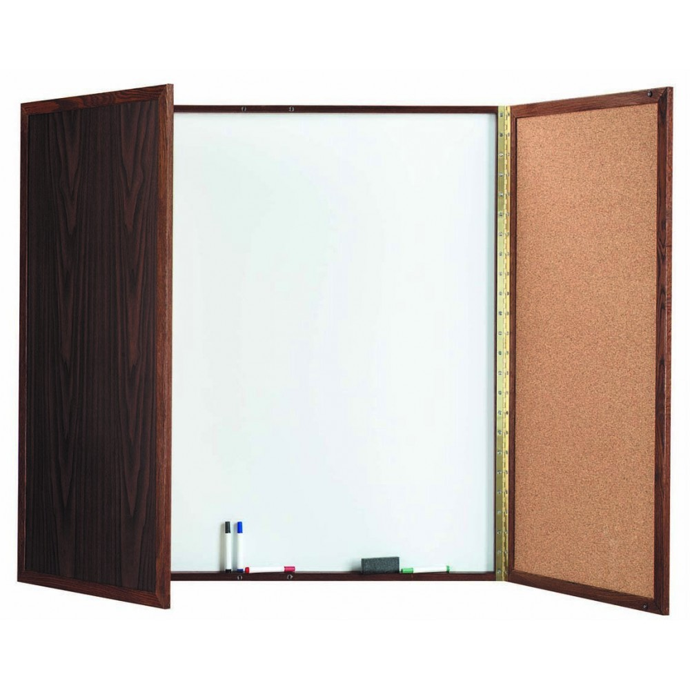 Walnut Enclosed Melamine Planning Board - 48