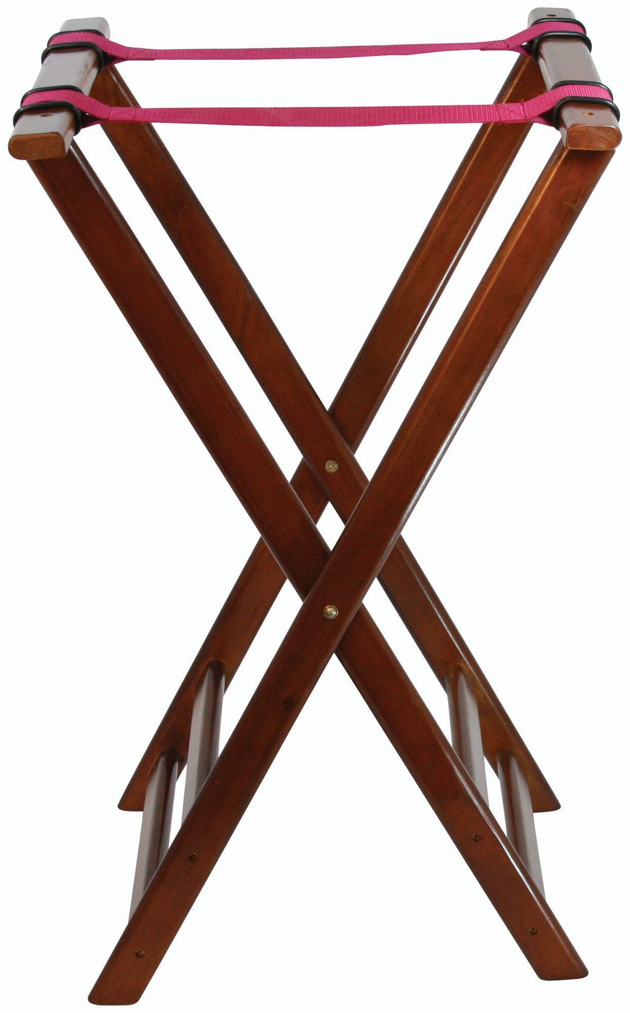 Walnut-Finish Foldable Tray Stand - 32