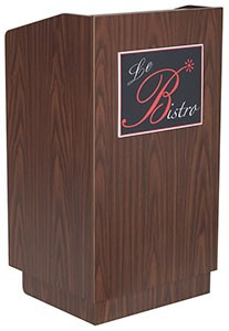 Walnut Laminated Melamine Finish Podium