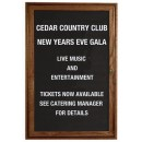 """Aarco Products WDC2418 1-Door Enclosed Changeable Letter Board with Walnut Finish, 24""""H x 18""""W"""