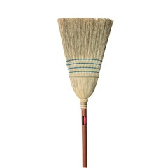 Warehouse Corn-Fill Broom, 38-in Handle, Blue
