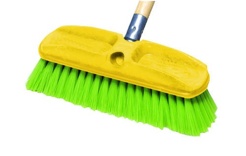 Wash Brush 2.75 X 10, Plastic Block, Nylon Bristles