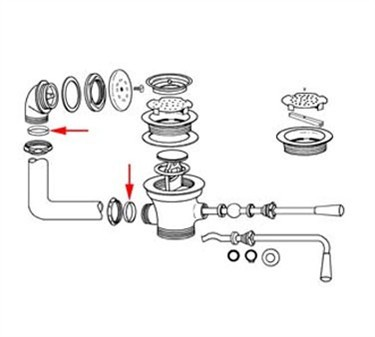 Franklin Machine Products  100-1019  Coupling Nut Washer for Lever and Twist Handle Waste Overflow
