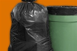 Waste Can Liners, 1.5mil, 38w x 38d x 58h, Black