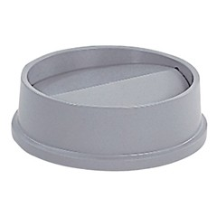Waste Disposal Round Untouchable Top-down Swing Lid, Gray
