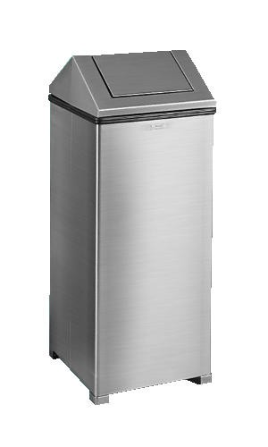 Waste-Master Non-Magnetic Stainless Steel Fire Safe Receptacle, 24 Gallon