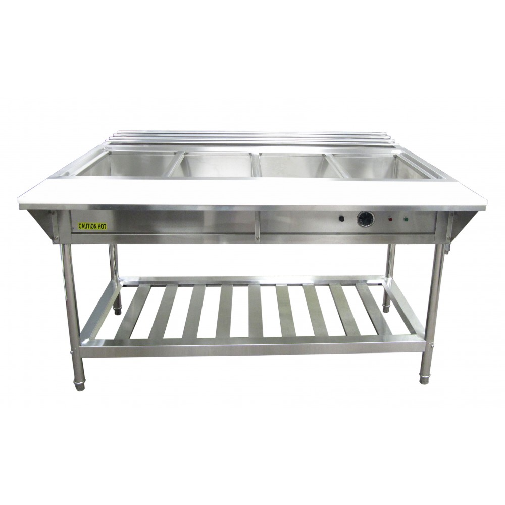 Adcraft Water Bath 4-Well Electric Steam Table
