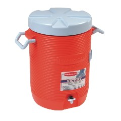 Water Cooler, 12 1/2dia x 16 3/4h, Orange