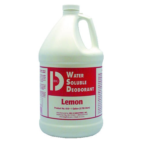 Water-Soluble Deodorant, Lemon Scent, 1 Gallon Bottles