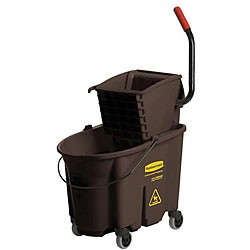Wave Brake 35 Qt Bucketw/Caster Kit Brown