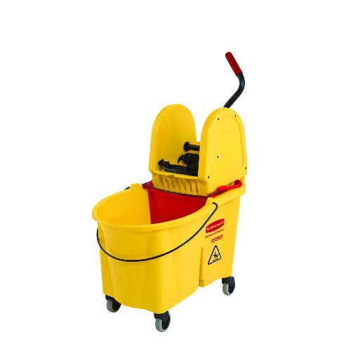Wavebrake Downward Pressure Mop Wringer Combo, 44 Quart, Yellow