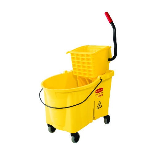 Wavebrake High Capacity Mopping System, Bucket & Wringer, Sideward Pressure, 44 Quart, Yellow
