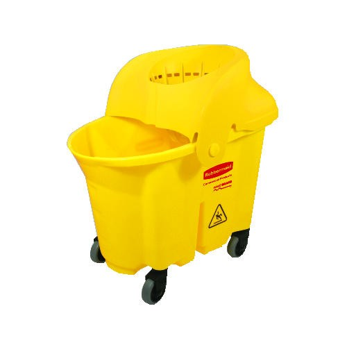 Wavebrake Institutional Mop Combo, 35 Quart, Yellow