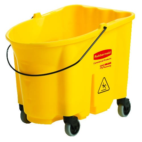 Wavebrake Mop Wringer with Bucket and Canister Kit, 35 Quart, 20.1 X 16 X 17.4, Yellow