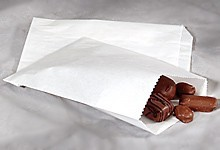 Wax Sandwich Bag, 6 x 1-1/10 x 7, White, 600/Case