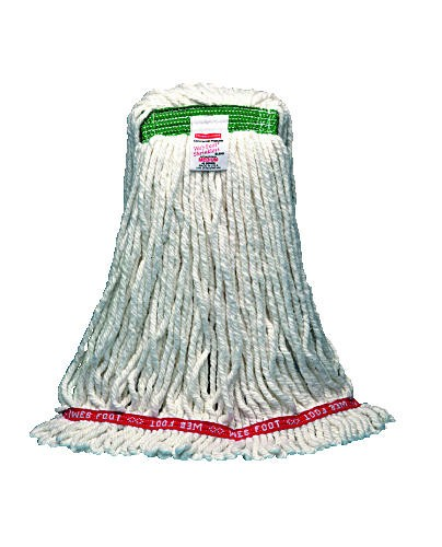 Web Foot Wet Mop, Medium, 1 Headband, Cotton/Synthetic, White