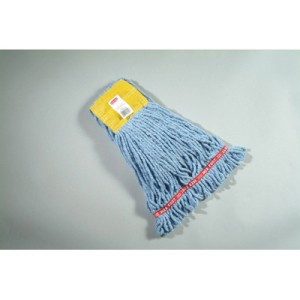 Web Foot Wet Mop Head, Shrinkless, Cotton/Synthetic, Blue, Small