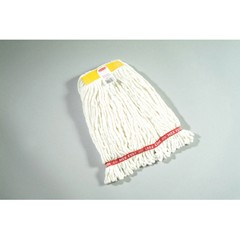 Web Foot Wet Mop Heads, Shrinkless, White, Small, Cotton/Synthetic