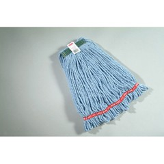 Web Foot Wet Mop Heads, Shrinkless, Cotton / Synthetic, Blue, Medium  rcp a212 blu
