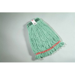 Web Foot Wet Mop Heads, Shrinkless, Cotton / Synthetic, Green, Medium [rcp a212 gre ]