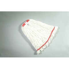 Web Foot Wet Mop Heads, Shrinkless, Cotton / Synthetic, White, Large [ RCP A213 WHI ]