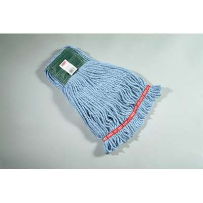 Web Foot Wet Mop Heads, Shrinkless, Cotton / Synthetic, Blue, Medium [ rcp a252 blu ]