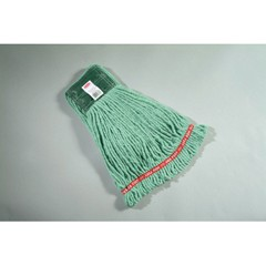 Web Foot Wet Mop Heads, Shrinkless, Cotton / Synthetic, Green, Medium [ rcp a252 gre ]